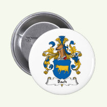Bach Family Crest Button