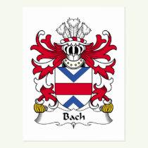 Bach Family Crest Postcard