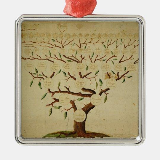 Bach Family Tree, c.1750-1770 Metal Ornament