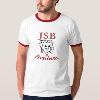 Bach for President ringer T Shirt