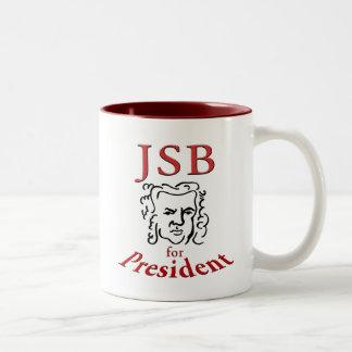 Bach for President Two-Tone Coffee Mug
