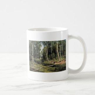 Bach In The Birch Forest By Schischkin Iwan Iwanow Mugs