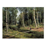 Bach In The Birch Forest By Schischkin Iwan Iwanow Postcard