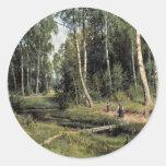 Bach In The Birch Forest By Schischkin Iwan Iwanow Sticker