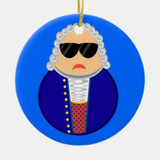 Bach Music Composer Classical Musician Gift Double-Sided Ceramic Round Christmas Ornament