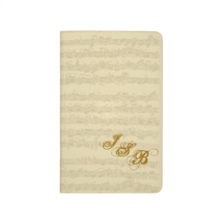 Bach Music Manuscript, 2nd Suite Customizable Journal