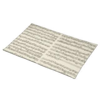 Bach Music Manuscript, 2nd Suite for Cello Solo Cloth Placemat