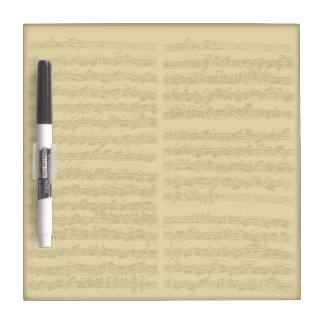 Bach Music Manuscript 2nd Suite for Cello Solo Dry Erase Whiteboard