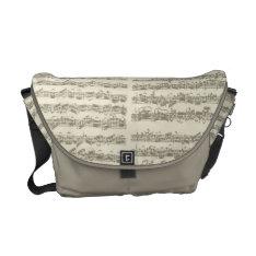 Bach Music Manuscript, 2nd Suite for Cello Solo Messenger Bag at Zazzle