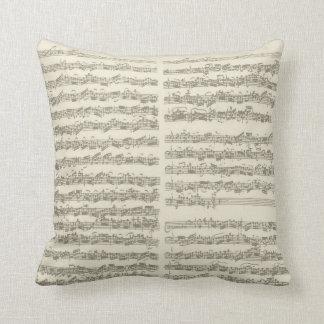 Bach Music Manuscript, 2nd Suite for Cello Solo Pillows
