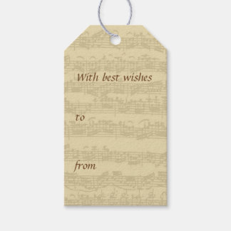 Bach Music Manuscript All Occasion Gift Tags