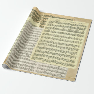 Bach Music Manuscript Pages Wrapping Paper