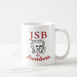 Bach para el presidente taza de café