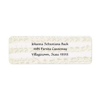 Bach Partita Address Label