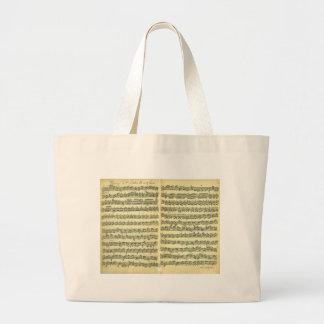 Bach Partita Tote Bags