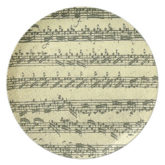 Bach Partita Melamine Plate