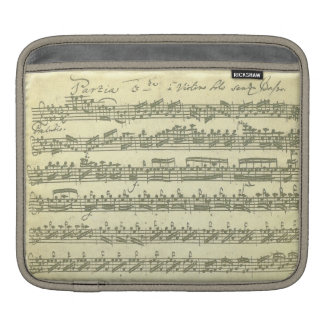 Bach Partita Music Manuscript for Violin Solo Sleeves For iPads