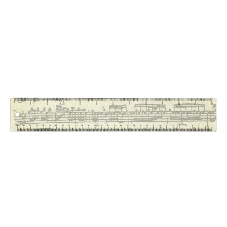 Bach Partita Music Manuscript Ruler