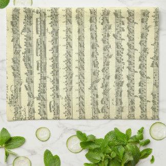 Bach Partita No. 3 for Solo Violin in Manuscript Towels