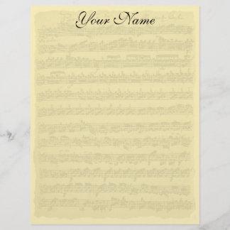 Bach Partita Writing Paper