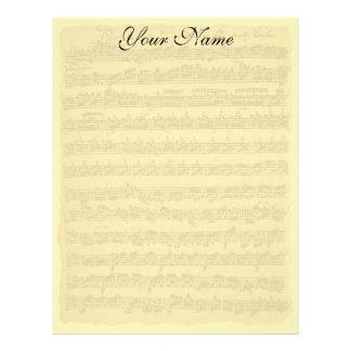 Bach Partita Writing Paper Letterhead