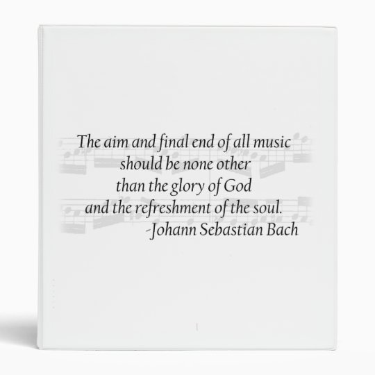 Bach Quote Music Binder