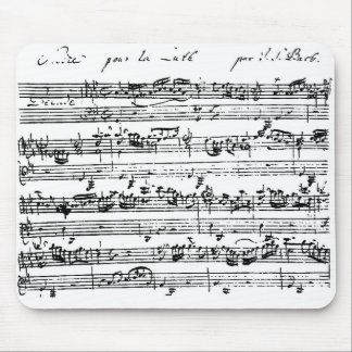 Bach score mousepad