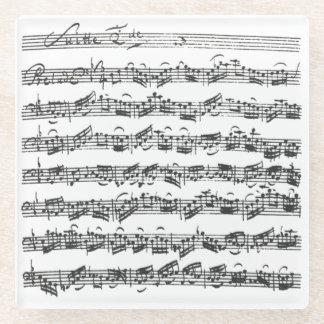 Bach Second Cello Suite Original Notation Glass Coaster
