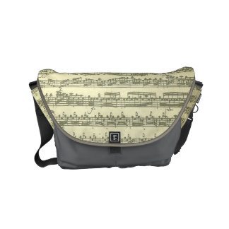 Bach Third Partita Solo Violin Music Manuscript Small Messenger Bag