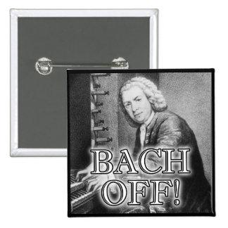 Bach trasero del Pin divertido de la insignia del Pin Cuadrada 5 Cm
