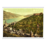 Bacharach and ruins of Stahleck, the Rhine, German Post Cards