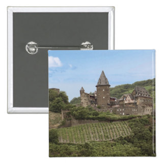 Bacharach, Germany, Stahleck Castle, Schloss 2 Inch Square Button