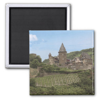Bacharach, Germany, Stahleck Castle, Schloss 2 Inch Square Magnet