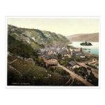 Bacharach, the Rhine, Germany rare Photochrom Postcard