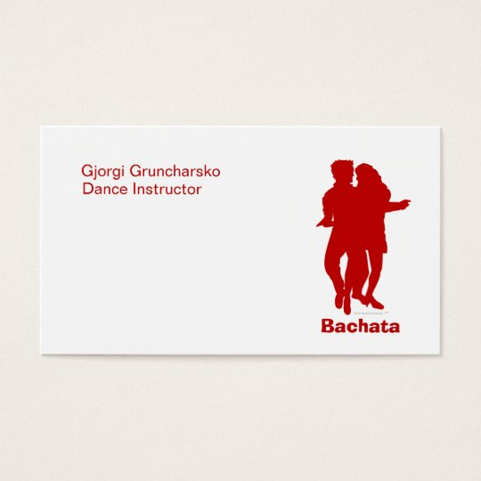 Bachata Bachata Dancers Silhouette Custom Business Card