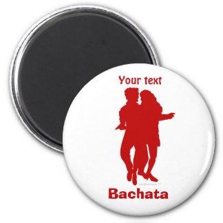 Bachata Bachata Dancers Silhouette Custom Fridge Magnets