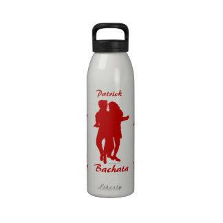 Bachata Bachata Dancing Silhouette Personalized Reusable Water Bottle