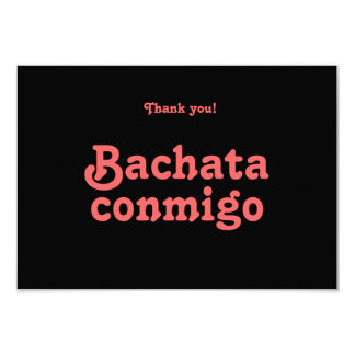 Bachata Conmigo Latin Dance Thank You Cards