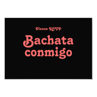 Bachata Conmigo Latin Salsa Dance Party RSVP Cards