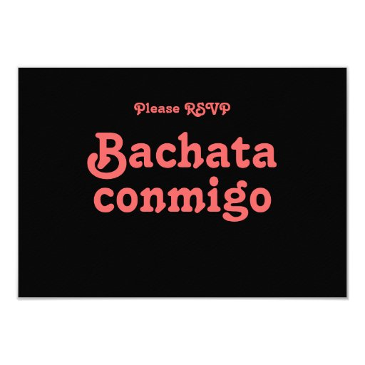 Bachata Conmigo Latin Salsa Dance Party RSVP Cards Custom Announcement