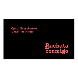 Bachata Conmigo Latin Salsa Dancing Custom Double-Sided Standard Business Cards (Pack Of 100)