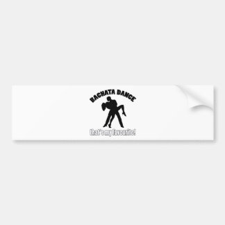 Bachata dance designs bumper sticker