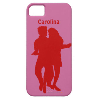 Bachata Dancing Couple Custom Name iphone 5g Cover