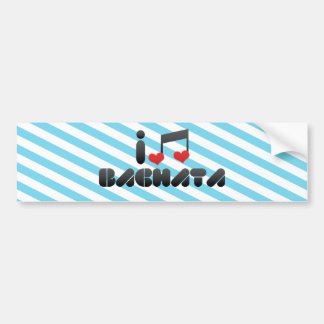 Bachata fan bumper sticker