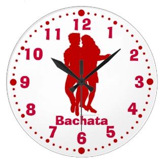 Bachata Latin Dance Pose Wall Clock With Minutes
