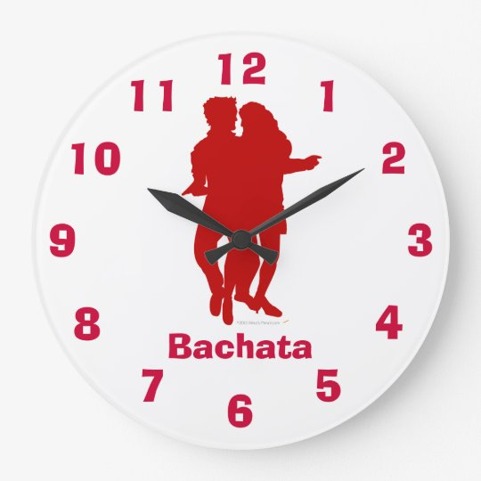 Bachata Latin Dance Pose Wall Clock With Numbers