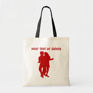 Bachata Latin Dancers Silhouette Custom Budget Tote Bag