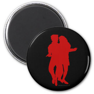 Bachata Latin Dancers Silhouette Custom Fridge Magnets