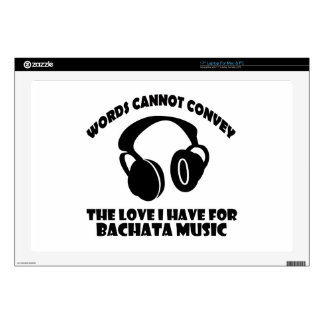 "Bachata Music designs 17"" Laptop Decal"