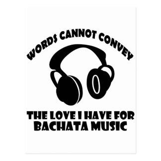 Bachata Music designs Postcard
